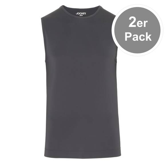 Jockey - Microfiber Air 2232 - Athletic Shirt - 2er Pack (XL  Schwarz)