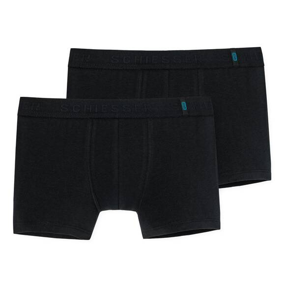 Schiesser - Teens Boys - 95/5 Shorts - 2er Pack (140  Schwarz)