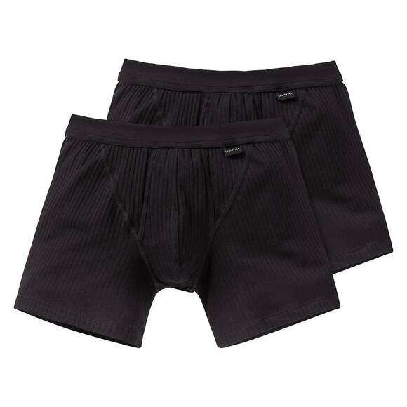 Schiesser Cotton Essentials Authentic Short - 103399 - 2er Pack (7  Schwarz)