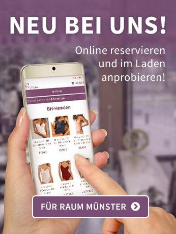 NEU: Online reservieren und im Laden anprobieren!